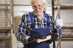 Handmade business at small furniture factory. Stock Photography