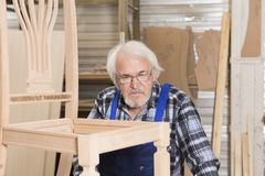 Handmade business at small furniture factory. Royalty Free Stock Photos