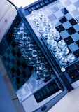 Serious game. Chess - a game for two people that is played on a board with 64 black and white squares called a chessboard Stock Images