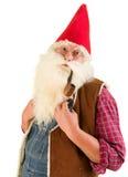 Serious garden gnome Stock Image