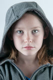 Serious girl. With pretty eyes Stock Photography
