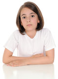 The serious girl Stock Images