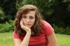 Serious girl Stock Photography