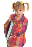 Serious girl with book Royalty Free Stock Image