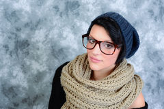 Serious girl with glasses Stock Photography