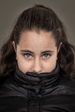 Serious Girl stock photo