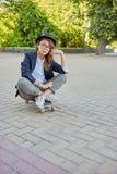 Serious girl hipster Royalty Free Stock Photos
