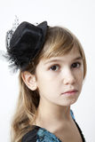 Serious girl nine years old Royalty Free Stock Image