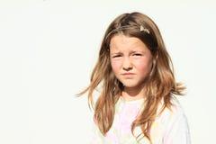 Serious girl Stock Image