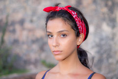 Serious Girl. Portrait of a teen girl Royalty Free Stock Image