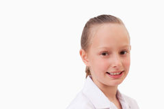Serious girl smiling Royalty Free Stock Photo