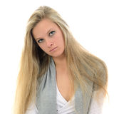 Serious girl. Royalty Free Stock Photo