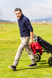Serious golf player Royalty Free Stock Images