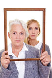 Serious grandmother Royalty Free Stock Photography