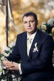 Serious groom Stock Photo