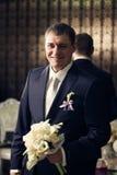Serious groom Royalty Free Stock Photos