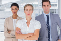 Serious group of business people Royalty Free Stock Photo
