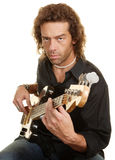 Serious Guitar Player Royalty Free Stock Image