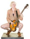 Serious Guitarist Stock Image