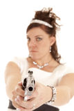 Serious gun Royalty Free Stock Photography