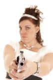 Serious gun Royalty Free Stock Photography