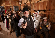 Serious Gunfighters Stock Photos