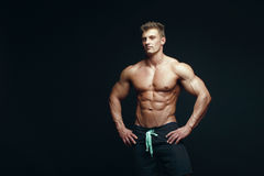 Serious handsome muscular bodybuilder Royalty Free Stock Photo