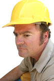 Serious Hard Hat Guy Stock Image