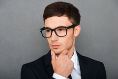 Serious about his business. Royalty Free Stock Photography
