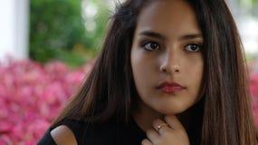 Serious Hispanic Teen Girl Royalty Free Stock Photo