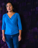 Serious Hispanic woman Stock Photo