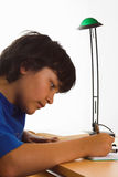 Serious homework Stock Photos