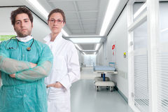Serious hospital staff Stock Photos