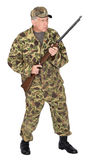Serious Hunter, Sportsman Isolated Royalty Free Stock Images