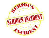 Serious incident. Rubber stamp with text serious incident inside,  illustration Royalty Free Stock Image