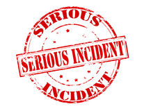 Serious incident. Rubber stamp with text serious incident inside,  illustration Stock Photo
