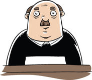 Serious Judge. A serious,cartoon judge sitting Royalty Free Stock Images