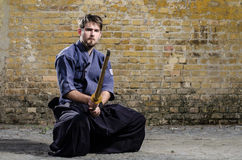Serious kendo expert Stock Photos