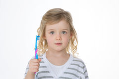 Serious kid with puzzled expression Royalty Free Stock Photography