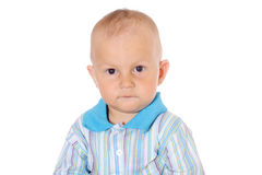 Serious little baby boy Royalty Free Stock Photo