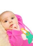 Serious  little baby face. Stock Photos