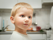 Serious little boy Stock Photo