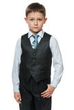 Serious little boy in suit Stock Photography
