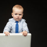 Serious little boy Royalty Free Stock Photography