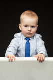 Serious little boy Royalty Free Stock Photos
