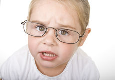 Serious little girl Royalty Free Stock Photography