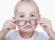 Serious little girl. Royalty Free Stock Photos