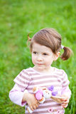 Serious little girl Royalty Free Stock Images