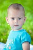 Serious little girl Stock Photos