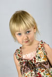 Serious little girl Royalty Free Stock Photos